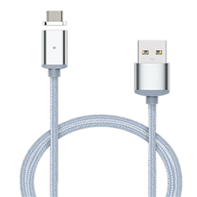 2 in 1 Nylon Magnetic Micro USB Adapter For  Sync Wire Data Cable Fast Charging Both For iphone Android ipad ipod
