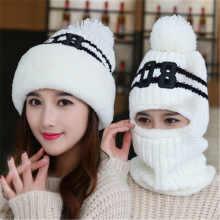 New Add Knit Lining Winter Hats Women Warm Fur Pom Pom Cap Skullies & Knit Hats For Women High Quality Girls Hats beanie hat(China)