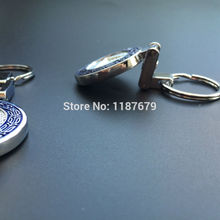 Car styling 10pcs metal car key chain metal MB keychains for benz logo key chain for car badges emblem decoration