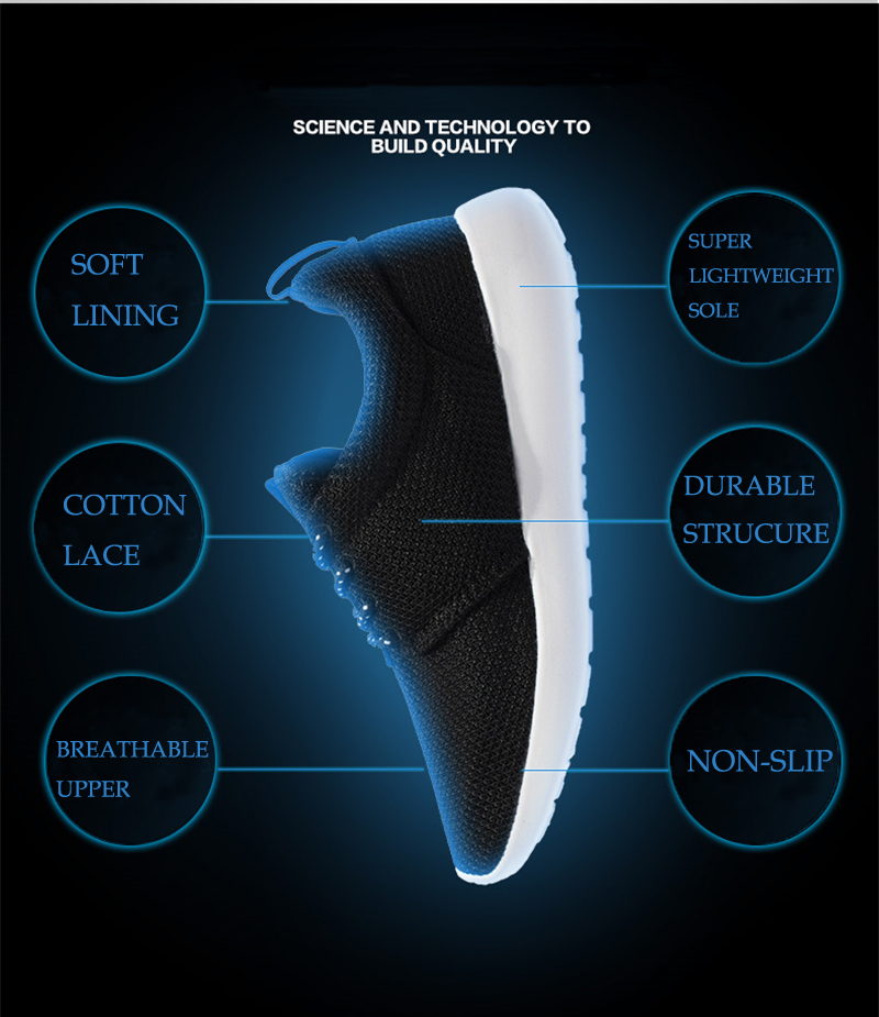 CASMAG Classic Men and Women Sneakers Outdoor Walking Lace up Breathable Mesh Super Light Jogging Sports Running Shoes 3