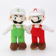 2Pcs/Set 10inch 25cm Super Mario plush dolls Super Mario Soft Plush Mario Luigi mario bros plush toys(China)