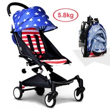 5.8kg Portable Children Pocket Car,  Super Light Baby Umbrella Cart, Foldable Baby Stroller & Pram, Kid Trolley for 6~36 Months