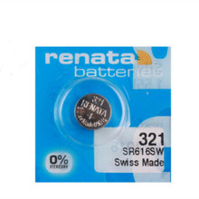 2Pcs/Lot RETAIL Brand New Renata LONG LASTING 321 SR616SW D321 GP321 Watch Battery Button Coin Cell Swiss Made 100% Original(China)