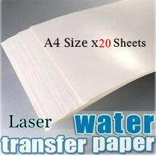 (20sheets/lot) No Need Varnish/Spray Laser Water Slide Decal Paper White Background Color A4 Size (8.3*11.7inch) Use For Ceramic