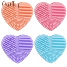 Silicone Fashion Egg Cleaning Glove Makeup Washing Brush Scrubber Tool Cleaners 0323D