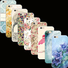 Popular Best Painted Flowers Silicon Cover Case For Apple iPhone 4 iPhone 4S iPhone4S Cases Phone Shell 2017 Pretty Newest Best