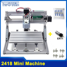 CNC 2418 DIY CNC Machine with GRBL Control, Working Area 24x18x4.5cm,3 Axis Pcb Pvc Milling Wood Router machine,Wood Carving Eng(China)