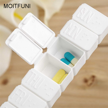 7 Day Tablet Pill Box Holder Weekly Medicine Storage Organizer Container Case(China)