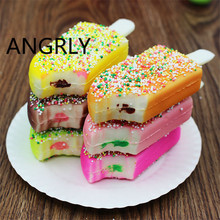 Simulation food toys Dessert ice cream model PU Bite one Popsicles Photography video props home Decoration early education +Z