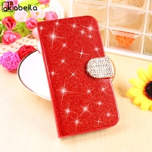 AKABEILA Glitter Bling Cases For Alcatel OneTouch Pop 3 5015D 5.0 Inch Housing 3G Version 5016A Covers PU Leather Wallet Bags(China)