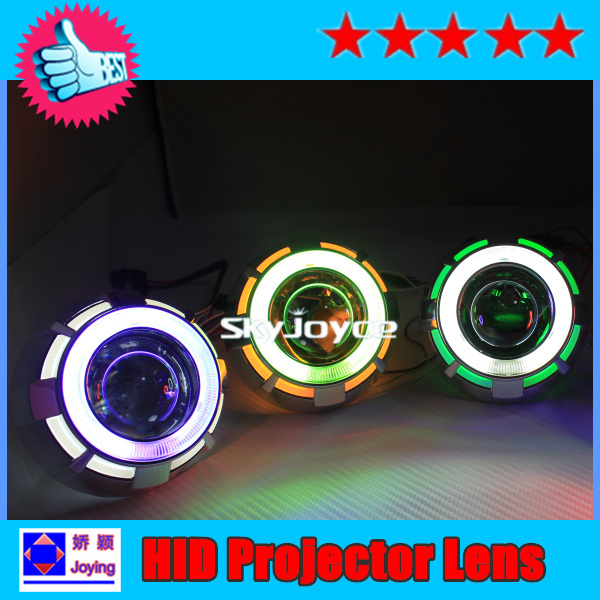 [4PCS/lot=2 projector + 2 ballasts] DHL 35W H1 H4 H7 hid projector lens best angel eyes HID auto heafdlight HID bixenon bulb(China (Mainland))
