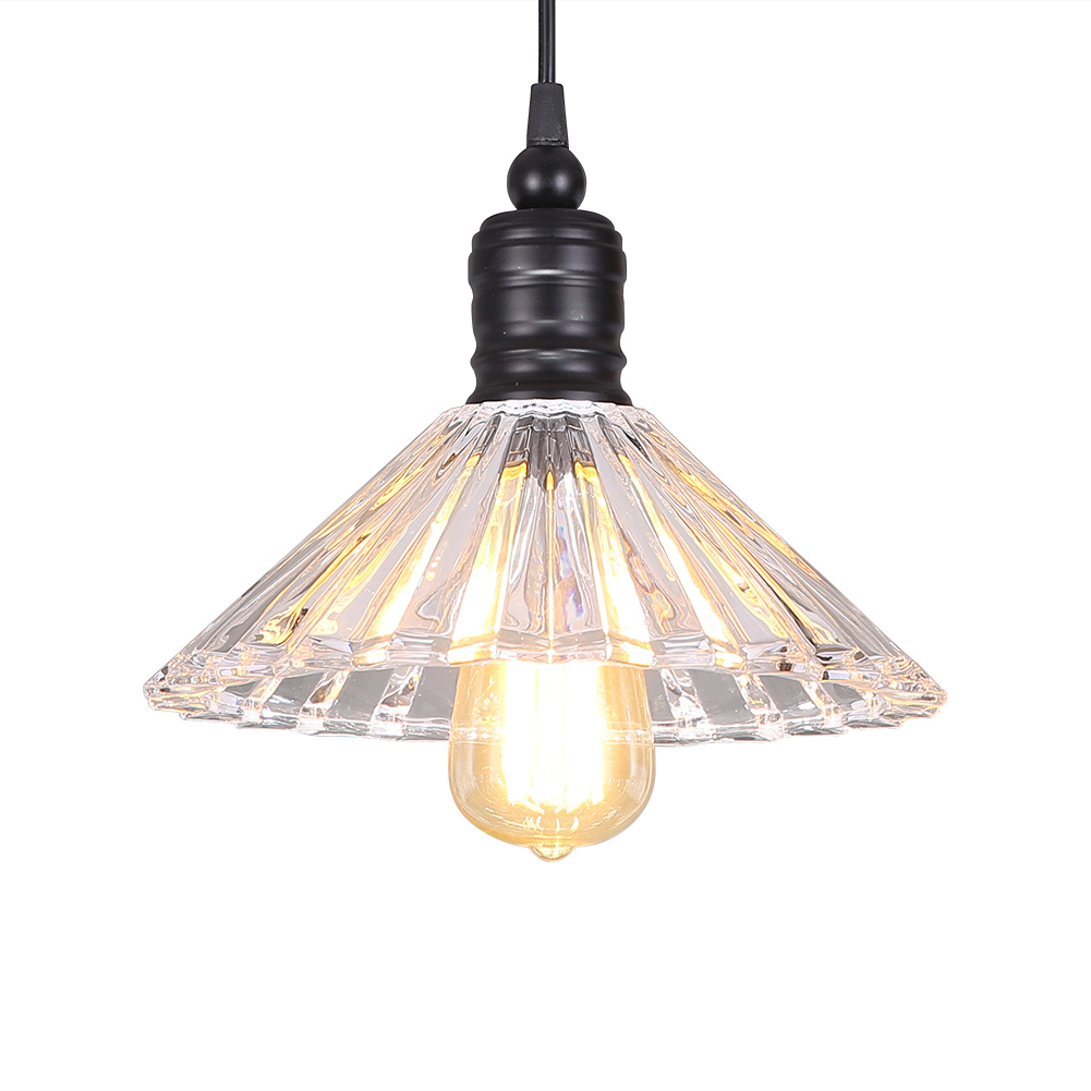 Retro Vintage Pendant Light Glass Crystal Umbrella Hanging Lamp E27 Pendant Lamp For Home Decor -Lampara Colgante<br>