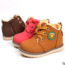 Eur 21-30 kids casuals shoes 2017 child martin shoes baby sport shoes boys girls sneakers toddler baby brand snow boots(China)
