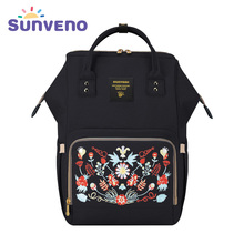 Sunveno Fashion Maternity Mummy Nappy Bag Brand Large Capacity Baby Bag Travel Backpack Design Nursing Diaper Bag Baby Care(China)