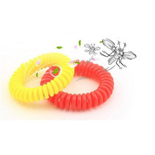 5 Pcs/lot 5.5CM Hair Accessories Telephone Wire Line Cord Hair Rope Traceless Hair Ring Also Can Be Mosquito Repellent Bracelets(China)
