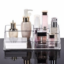 Lipstick Storage Box Bedroom Crystal Acrylic Cosmetic Makeup Organizer Transparent Jewelry Makeup Tools Case Stand Rack Holder