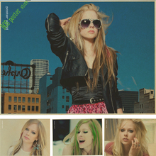 vintage poster Avril Lavigne Music Star Poster retro paper Image for Wall Decoration Wall Sticker Print Posters