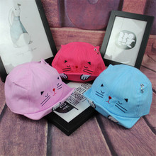 New Cartoon Cat Baby Hats Kids Boys Girls Cap Newborn Toddler Baseball Caps Summer Beret Sun Visor Hat Cap Accessories