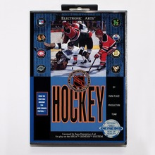 NHL Hockey Game Cartridge 16 bit MD Game Card With Retail Box For Sega Mega Drive For Genesis