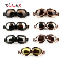 Triclicks Motocross ATV Dirt Bike Goggle Motorcycle Off Road Racing Goggles Motor Protective Gear Glasses Aviator Pilot Eyewear
