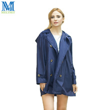 Trench Coat Style Women Raincoat With Hood Outdoor Rainwear Waterproof Rain Coat