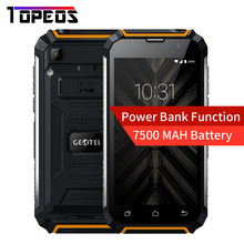 "Geotel G1 Smartphone 3G WCDMA Android 7.0 Power bank 5.0"" MTK6580A QUAD CORE 2GB RAM+16GB ROM 8MP 7500mAh Mobile Phone"