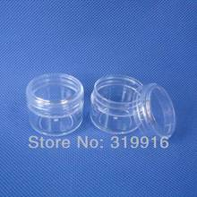 30g Transparent Empty Sample PS Cream Box Jar 1OZ Bottle Cosmetic Packaging Solid Perfume Pot Clear Display Can 50pc/lot