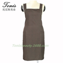 High Quality Brown Color Apron Could Be Used As Household Working Apron For Hair Salon , Coffe Shop, Hotel ,Y-97 Low Price(China)
