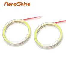 Nanoshine 2 pcs led Angel Eye car Halo Rings 60/70/80/90/100/110/120 mm auto drl Angel Eyes Motorcycle bright Lampshades 12v cob(China)
