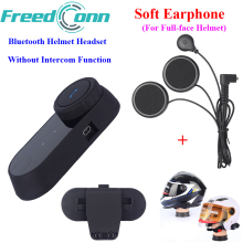 FreedConn Motorcycle Bluetooth Headset Moto Helmet Headsets Without Intercom Function with Soft Mic for Integral Closed Helmet(China)