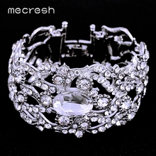 Buy Mecresh Silver&Gold-color Crystal Wedding Bracelet&Bangle Women Rhinestone 2017 Fashion Jewelry SL093 for $5.99 in AliExpress store
