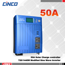 720W/1200VA/1440W2400VA Solar Power Inverter with 12V50A 24V50A solar charge controller LCD dispaly USB output AC charger(China)