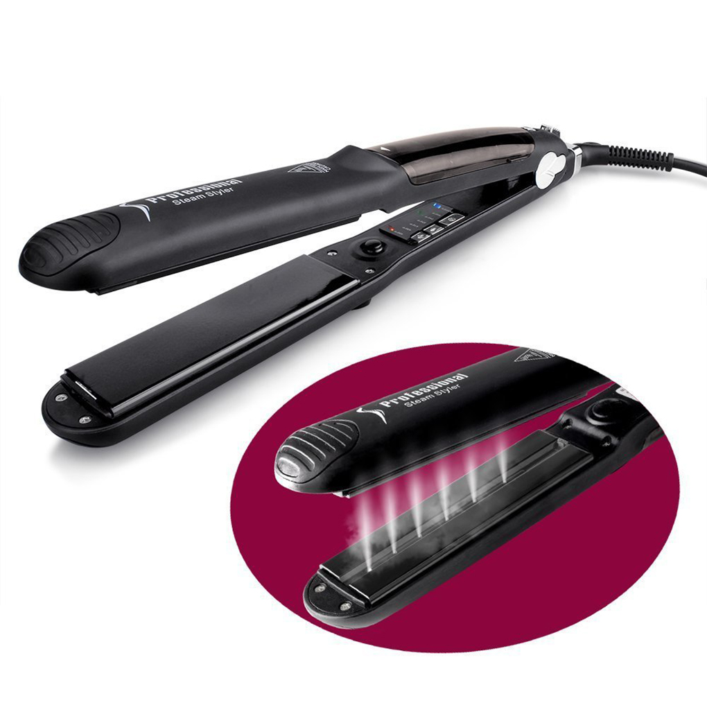 Steam Hair Straightener Ceramic Flat Iron Vapor Plate Wet/Dry Straightening Hair Iron Steamer Styling Tool For Beautiful Women<br>