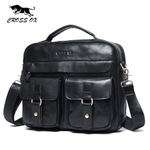 CROSS OX 2017 New Arrival Genuine Leather Bags For Men Wax Leather Shoulder Bag Satchel Briefcase Portfolio Men's Bag HB568M(China)
