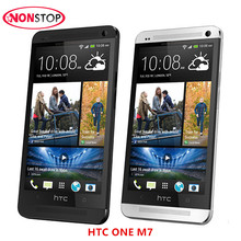 HTC ONE M7 Unlocked 3G 4G Wifi GPS 4.7'' Touch Cell Phone 2GB RAM 32GB Storage Android Unlocked Bar Original SmartPhone(China)