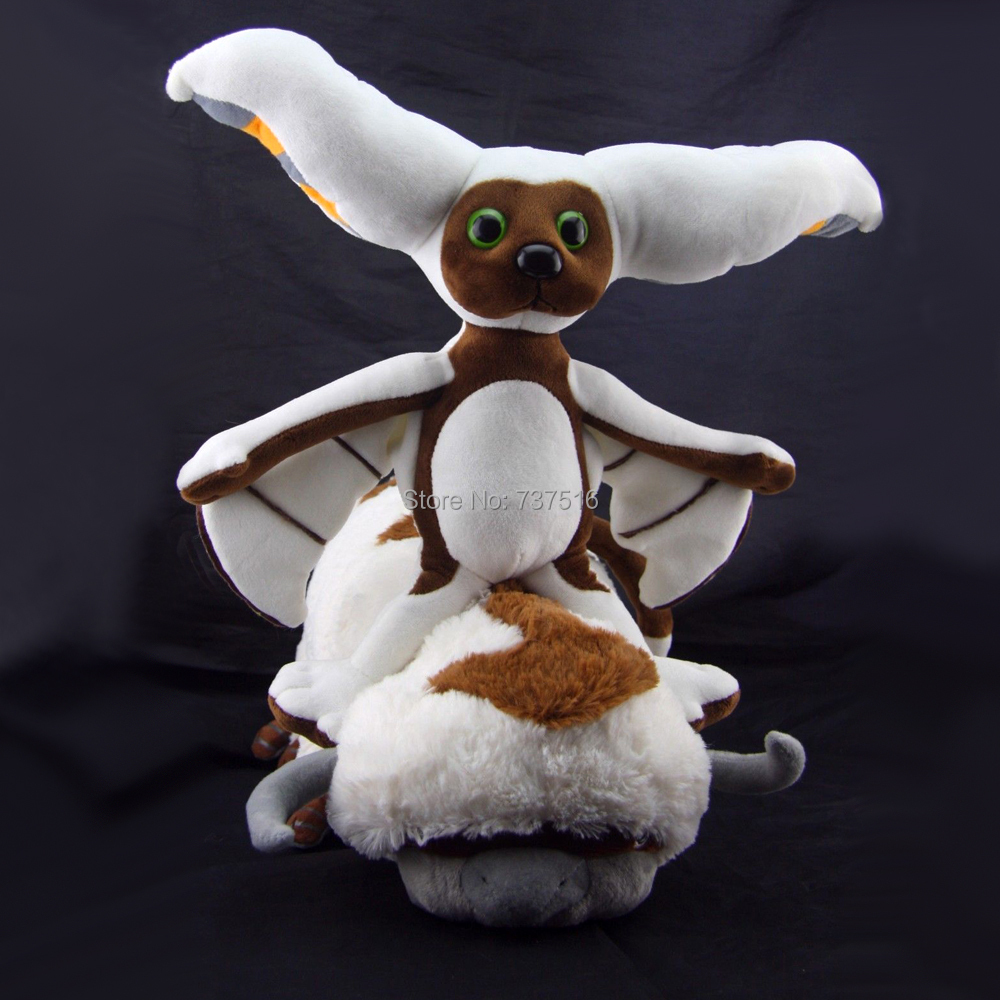 The Last Airbender Resource 11 inch Momo &amp;20 inch Appa Stuffed Plush Doll Toys for Chlidren new<br>