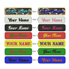 5pcs/lot Custom embroidery name Patch name tag personalized name and number embroidery patches customized name tag
