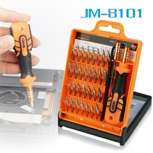 JAKEMY 33 in1 Multifunctional Precision Screwdriver Set For iPhone Laptop Mini Electronic Screwdriver Bits Repair Tools Kit Set(China)