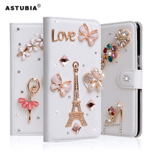 ASTUBIA Luxury For Nokia 5 Case PU Leather Cover Filp Card Slot Stand Rhinestone Cover For Nokia 2 5 7 Case For nokia 5 Coque(China)