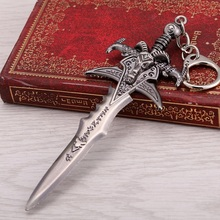 12cm WOW Frostmourne Key Chain Key Ring World of Warcraft Llavero Chaveiro Keyring Key Holder Keychain Chaveiro Llavero(China)