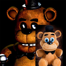 "Hot Sale Fnaf Plush Freddy Fazbear Bear Plush Toys Doll 10.5""/26cm Kids Toys Inside Out Plush Stuffed bear Free Shipping"