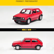 New 1/36 Scale Red WELLY Volkswagen Golf GTI Diecast Retro Car Model Toys For Children Gifts   Collections