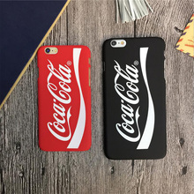 Cool Cola Print Phone Case for iphone6 6s 6sPlus 5 5S SE 7 7Plus Anti-knock Soft Plastic Phone Cases Back Cover Protective Bags