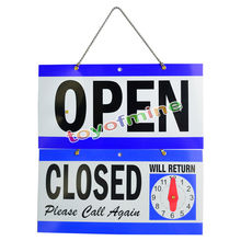 OPEN CLOSED Sign / WILL RETURN + CLOCK Business AD Sign Bar/Pub/Garage Wall Decor Tin Plaque Metal Art Poster(China)
