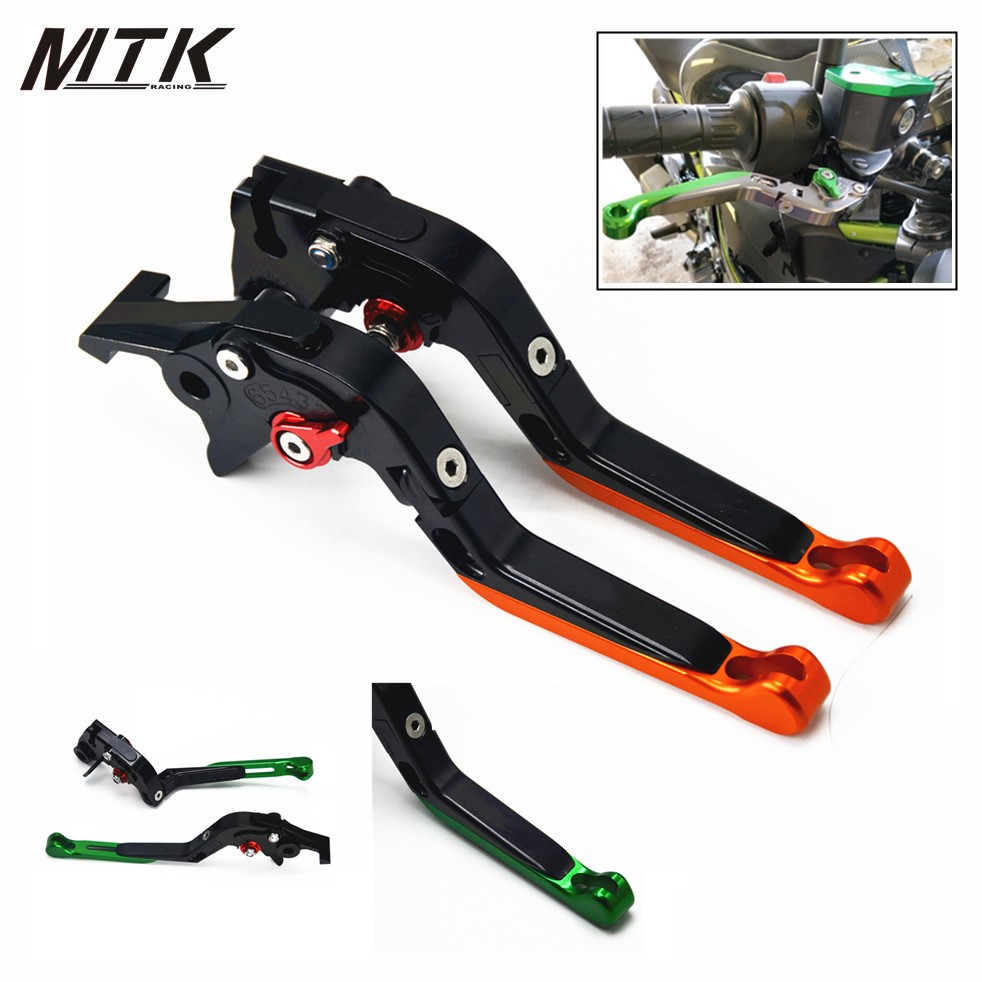 MTKRACING Folding Extendable For Kawasaki Z1000SX/NINJA 1000/Toure 2017 Accessoris CNC Aluminum Adjustable Brake Clutch Lever <br>