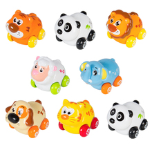 4PCS/Lot HUILE TOYS 376 Children's Education Toys Action Brinquedos Friction Animal Baby Toys Bebe Presentes Baby Toys Best Gift