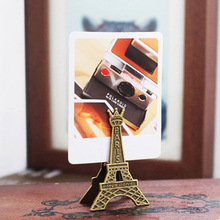 Effiel Tower Paris Metal Memo Paper Clips for Message Decoration Photo Office Supplies Accessories Free shipping 670(China)
