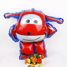 3D Super Wings Foil Balloon SuperWings globos Jett Helium Ballon 1pc Birthday Party Decorations Kids toys air inflatable balls(China)