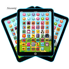 Chinese English Language Kids Children Educational Tablet Study Learning Computer laptop Machine Toys v(China)