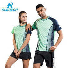 ALBREDA Lover Clothes 2 piece Man/Women Sport Suits Tennis Basketball jersey tracksuit Quick dry sportswear Fitness Running Sets(China)